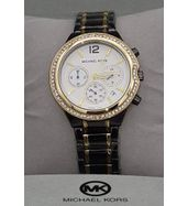 Michael Kors Black Chain with White Dial Watch
