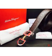 Salvatore Ferragamo Silver Wide Buckle Belt