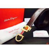 Salvatore Ferragamo Golden Wide Buckle Belt