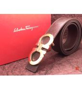 Salvatore Ferragamo Logo Engraved Leather Belt