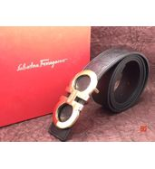 Salvatore Ferragamo Logo Engraved Black Belt