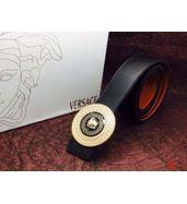 Versace Golden Logo Plain Black Belt