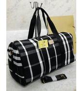Burberry Black Check Duffle Bag