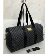 Louis Vuitton Black Check Duffle Bag