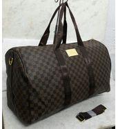 Louis Vuitton Brown Check Duffle Bag