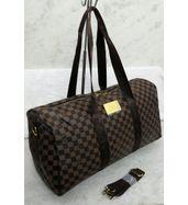Louis Vuitton Big Strap Brown Check Duffle Bag