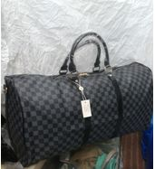 Louis Vuitton Black Check Big Duffle Bag
