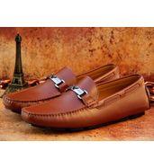 Emporio Armani Tan Loafers
