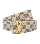 Louis Vuitton Gold Buckle White Belt