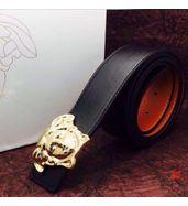Versace Black Leather Belt