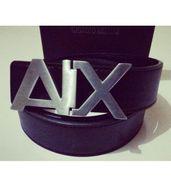Armani Exchange Silver Belt