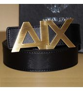 Armani Exchange Gold Belt