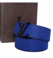 Louis Vuitton Blue Suede Belt