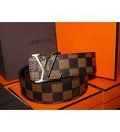 Louis Vuitton Brown Belt Silver Buckle