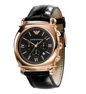 Emporio Armani Gold Leather Watch