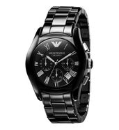 Emporio Armani AR1400 Ceramic Black Chronograph Watch