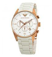 Emporio Armani Sportivo AR5920 White Rose Gold Watch