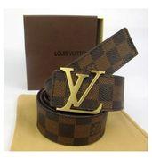 Louis Vuitton Brown Check Belt