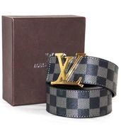 Louis Vuitton Grey Check Belt