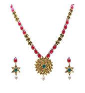 uncut Rubies long Necklace