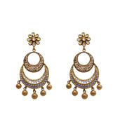 Antique kundan hanging drops