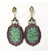 Purple Orchid earrings