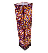 SALEBRATIONS BOX FLOOR LAMP SHADES TRIANGULAR CUT  SHOJI PAPER WITH TEAK WOOD BASE