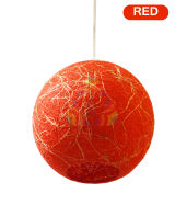 Salebrations Red Hanging Ball Lamp Shades Yarn With Banana Fiber And Led Bulb