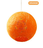 Salebrations Orange Hanging Ball Lamp Shades Yarn With Banana Fiber And Led Bulb