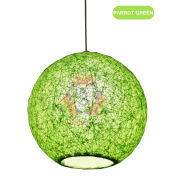 Salebrations Parrot Green Hanging Ball Lamp Shade With Yarn And Led Bulb