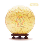 Salebrations Peach Ball Table Lamp Shades Yarn With Banana Fiber And Wooden Base With Led Bulb
