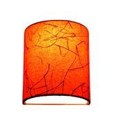 SALEBRATIONS SEMI CYLINDRICAL WALL LAMP SHADES WITH FABRIC AND BANANA FIBER