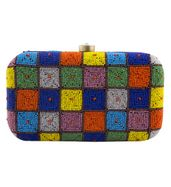 Candyshop beaded clutch