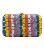 Bead rainbow clutch