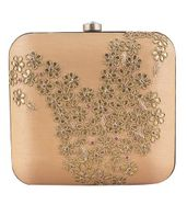 Gold Paisley clutch