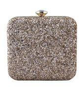 Gold sheen clutch bag