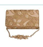Antique golden envelope clutch