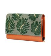 Palm leaf wallet clutch