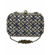 Dark Blue Jaal clutch