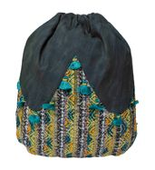 Grey Tassel Backpack