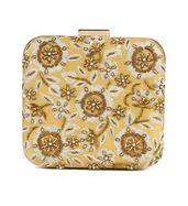 Gold floral zardosi clutch