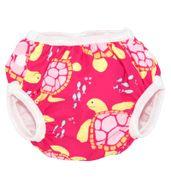 Swim Diaper - Pink Turtles (Medium)