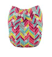 Pocket Diaper - Colorful Feathers