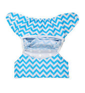 Diaper Cover - Blue Chevron