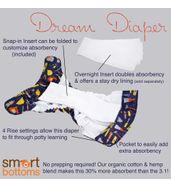 Dream Diaper 2.0  - Aqua Floral