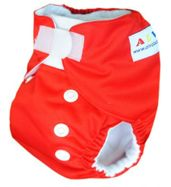 Newborn Pocket Diaper - Red (with insert)