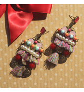 Thread party earrings