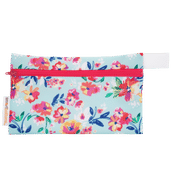 Mini Wet Bag - Aqua Floral