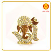 Om Ganesha Brown Studed Murthi