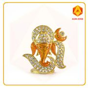 Om Ganesha Orange Studed Murthi